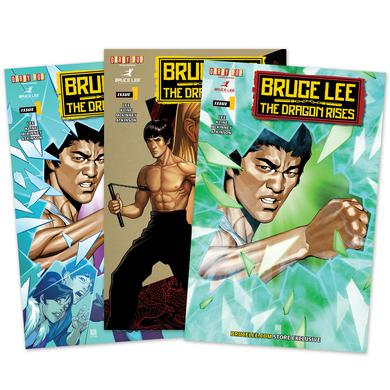 Bruce Lee The Dragon Rises Issue #1 – 3 Covers Bundle