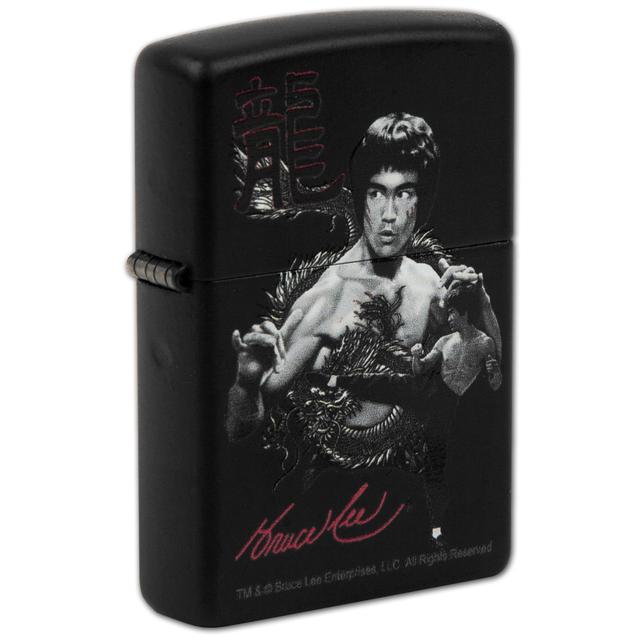 Bruce Lee The Dragon Matte Black Zippo