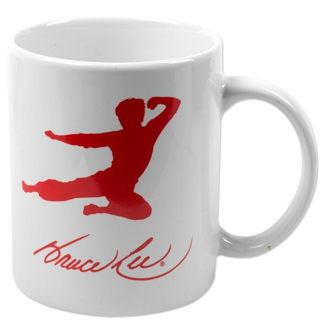 Bruce Lee Flying Man White Mug