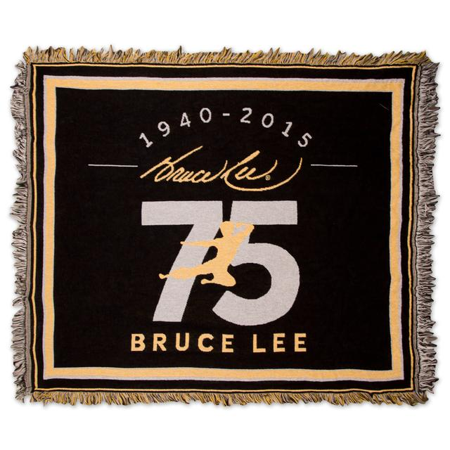 Bruce Lee LTD Edition 75th Tapestry Throw (Yellow)