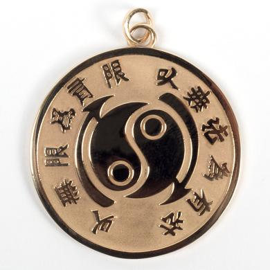 Bruce Lee Core Symbol 10k Yellow Gold Medallion - A Bruce Lee Store Exclusive