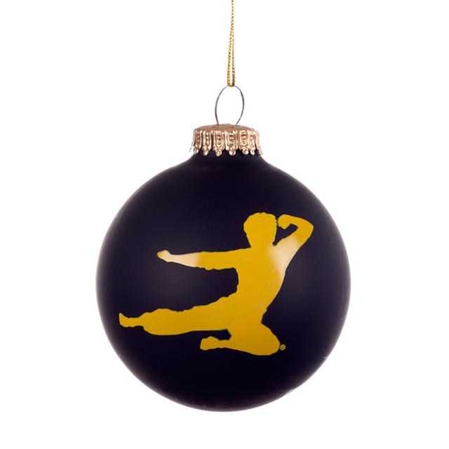 Bruce Lee Flying Man Quote Ornament