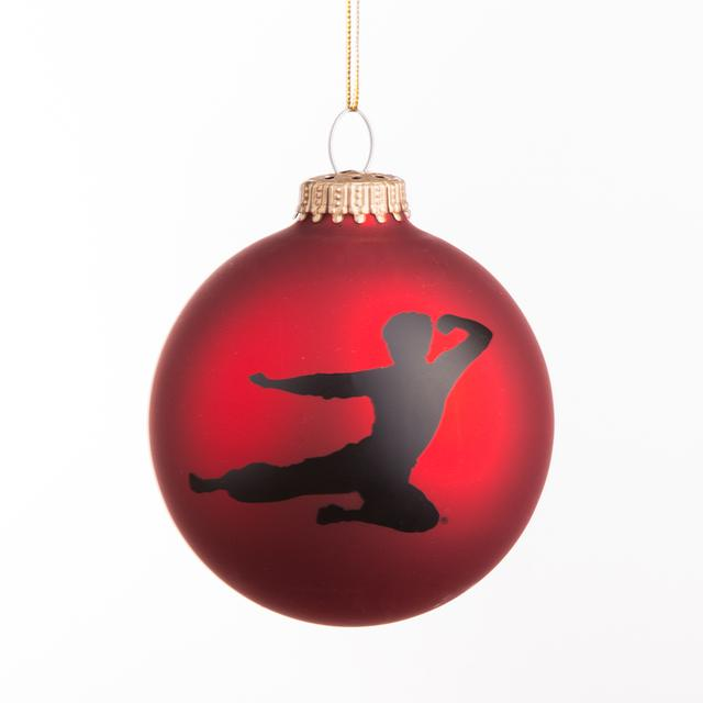 Bruce Lee Flying Man Signature Ornament
