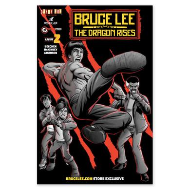 Bruce Lee The Dragon Rises Issue # 2 Signed Cover