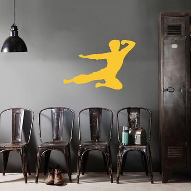 Bruce Lee Flying Man Wall Decal