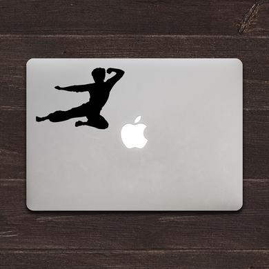 Bruce Lee Flying MacBook Decal