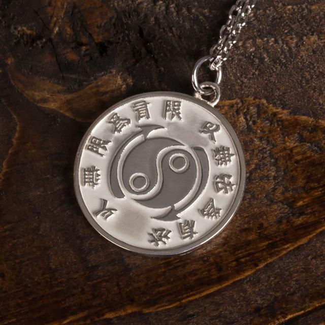 Bruce Lee Core Symbol Women's Sterling Silver Medallion + Chain