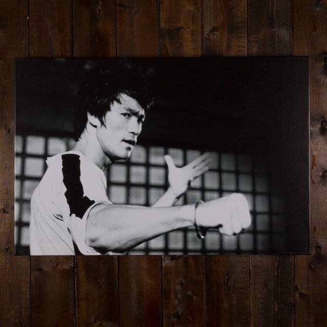 Bruce Lee Fist Bump Canvas Print