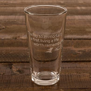 Bruce Lee Key to Immortality Etched Pint Glass