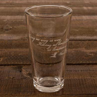 Bruce Lee No Limitation Etched Pint Glass
