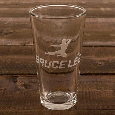 Bruce Lee Flying Bruce Etched Pint Glass