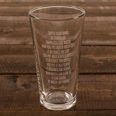 Bruce Lee Be Water Etched Pint Glass