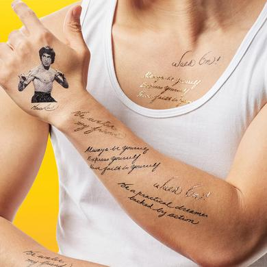 Bruce Lee Temporary Tattoo Set