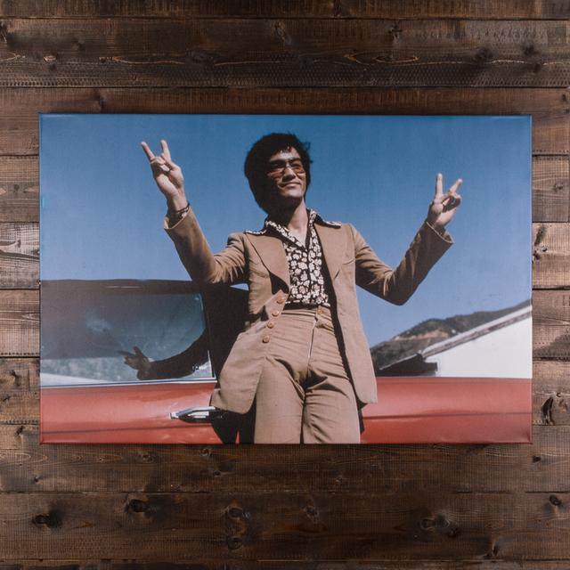 Bruce Lee Peace Out Canvas Print