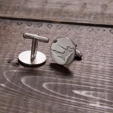 Bruce Lee Flying Man Stainless Steel Cufflinks