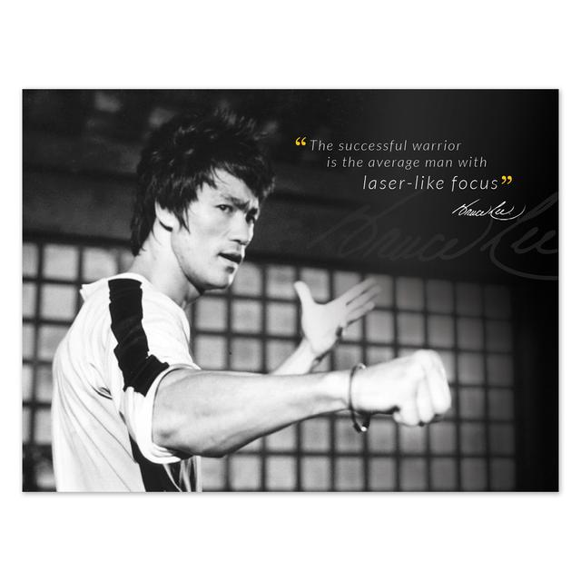 Bruce Lee Successful Warrior Poster