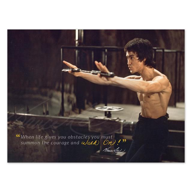 Bruce Lee Admit Mistakes Poster