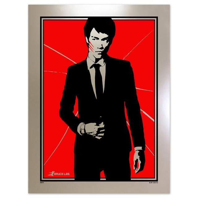 Bruce Lee Cracked Sophisticated Dragon Poster