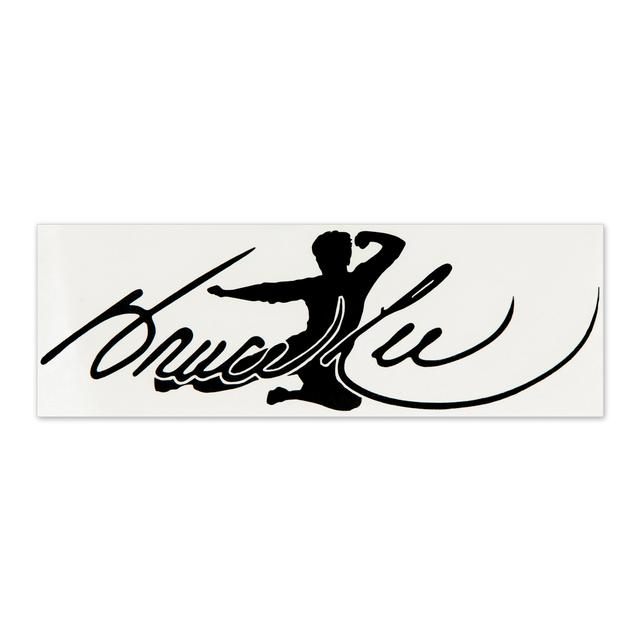 Bruce Lee Signature Flying Man Sticker