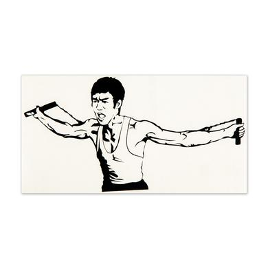 Bruce Lee ETD Double Chucks Sticker