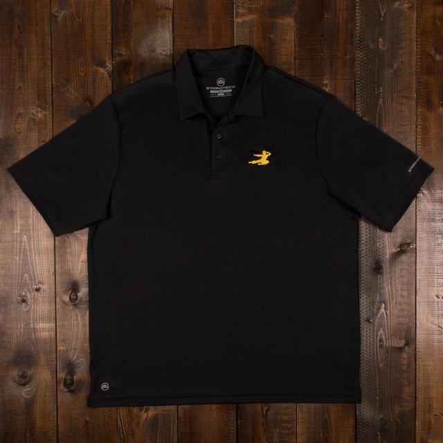 Bruce Lee Flying Man Polo - Black