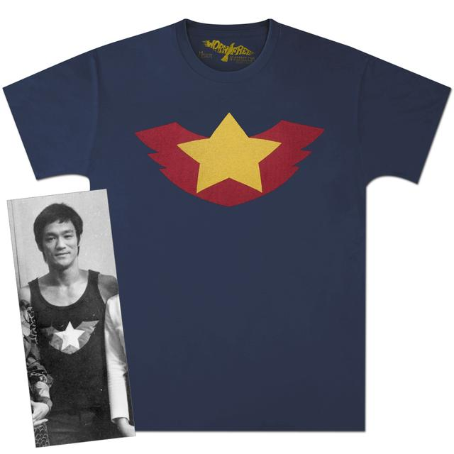 Bruce Lee Winged Star T-shirt by Worn Free