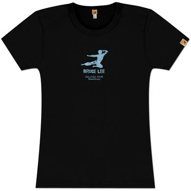 Bruce Lee Kick Logo Ladies T-shirt