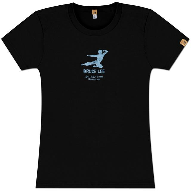 Bruce Lee Kick Logo Ladies T-shirt