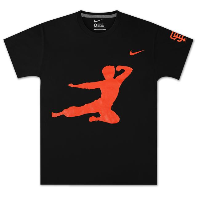 Bruce Lee Men's San Fransisco Giants Flying Man T-Shirt by Nike