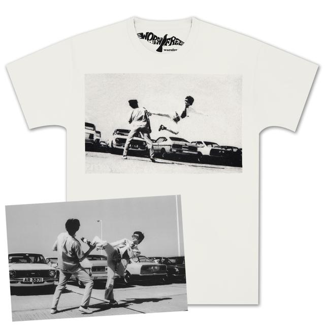 Bruce Lee Parking Lot T-shirt by Worn Free