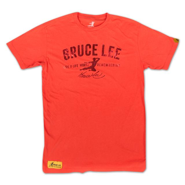 Bruce Lee Red Foil Signature T-Shirt