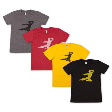 Bruce Lee Flying Man Youth T-shirt