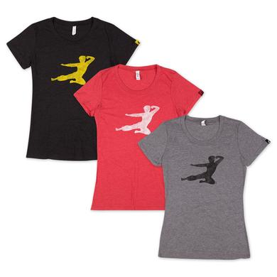 Bruce Lee Women's Flying Man T-shirt