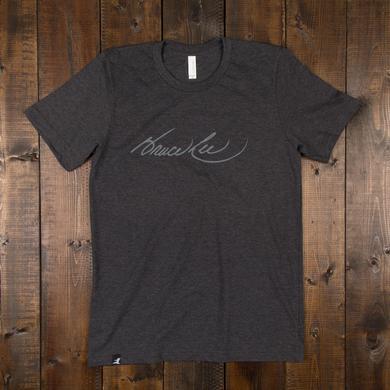 Bruce Lee Signature Unisex T-shirt Dark Grey