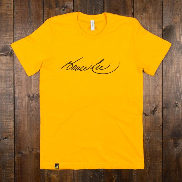 Bruce Lee Signature Unisex T-shirt Gold