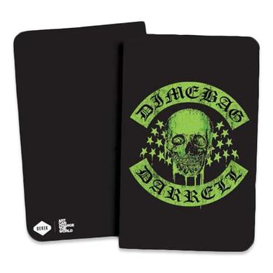 Dimebag Darrell Green Dimebag Skull Notebook