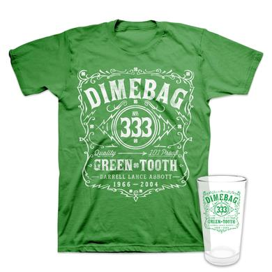Dimebag Darrell St. Paddy's Pint Glass + T-Shirt Bundle