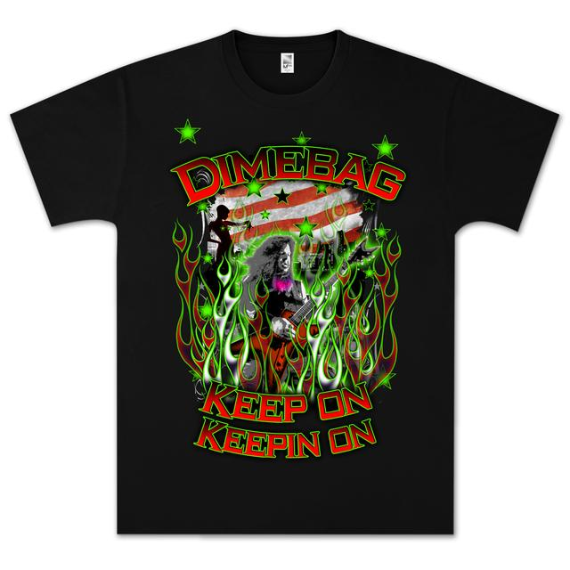 Dimebag Darrell Flag and Stars T-Shirt