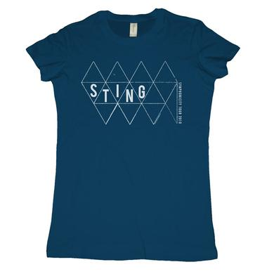 Sting Blue Triangles Women's T-Shirt