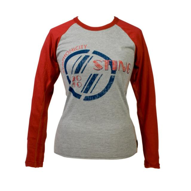 Sting Women's Red Sleeve Luxury Raglan