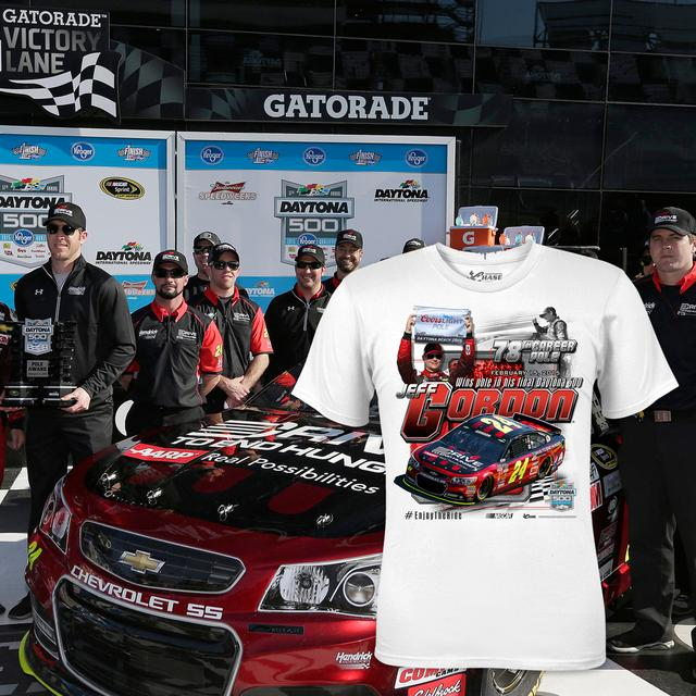 Hendrick Motorsports Jeff Gordon #24 2015 D500 Pole Win 1:24 Diecast and T-Shirt bundle