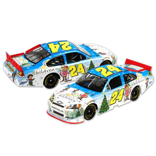 Hendrick Motorsports Jeff Gordon 2011 Sam Bass Holiday AUTOGRAPHED 1:24 Scale DieCast