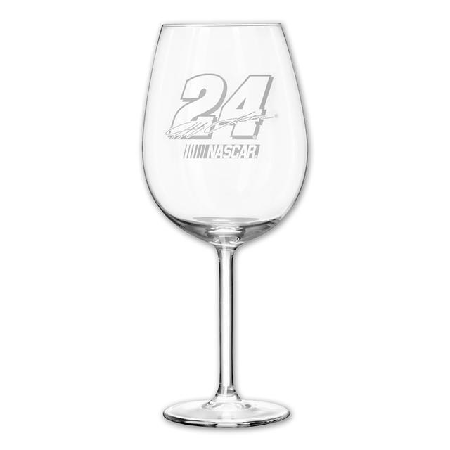 Hendrick Motorsports Jeff Gordon 12oz Etched Wine Glass