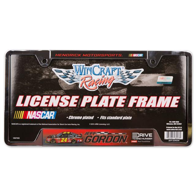 Hendrick Motorsports Jeff Gordon 2015 Metal License Frame