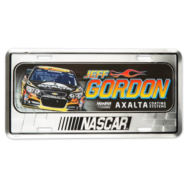 Hendrick Motorsports Jeff Gordon 2015 Metal License Plate