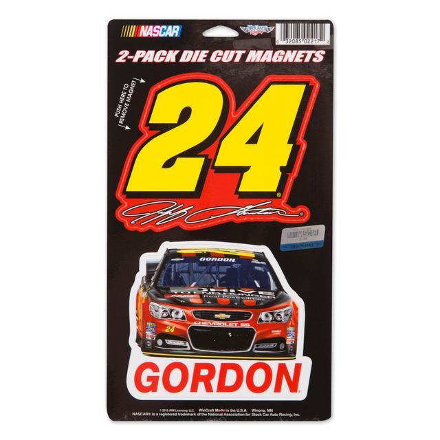 "Hendrick Motorsports Jeff Gordon 2015 2 Pack Magnet 5"" x 9"""
