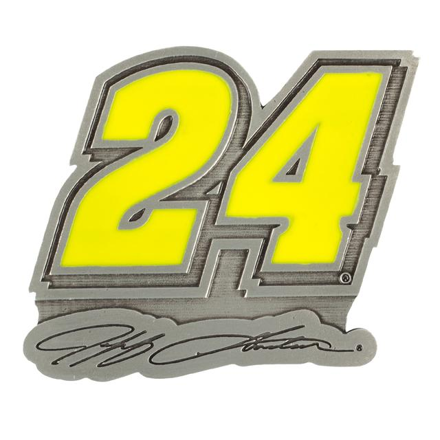 Hendrick Motorsports Jeff Gordon 2015 Pewter Car Emblem