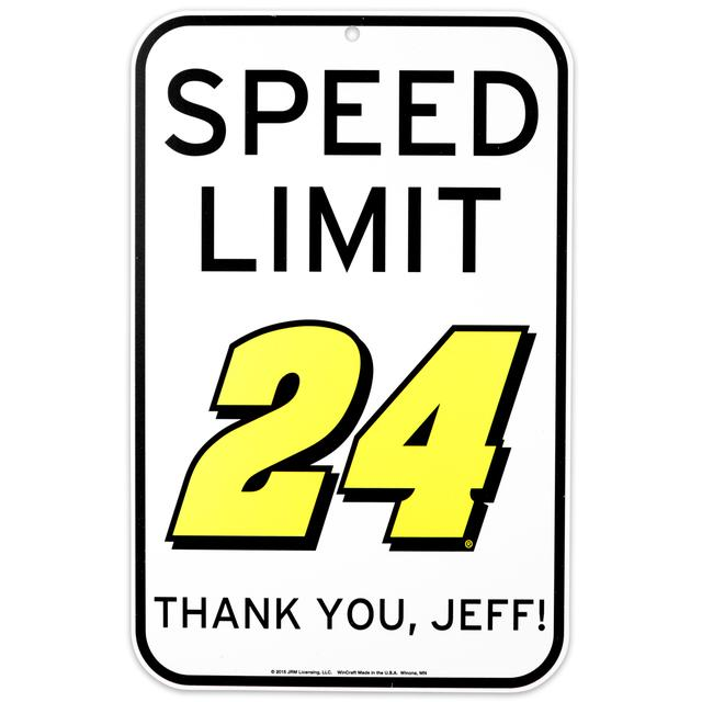 Hendrick Motorsports Jeff Gordon 24mph Parking Sign
