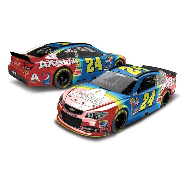 Hendrick Motorsports Jeff Gordon 2015 #24 Axalta Rainbow Throwback 1:24 Scale Nascar Sprint Cup Series Color Chrome Die-Cast