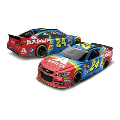 Hendrick Motorsports Jeff Gordon 2015 #24 Axalta Rainbow Throwback 1:64 Scale Nascar Sprint Cup Series Die-Cast